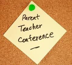 Image of Post-It Note that says Parent-Teacher Conferences