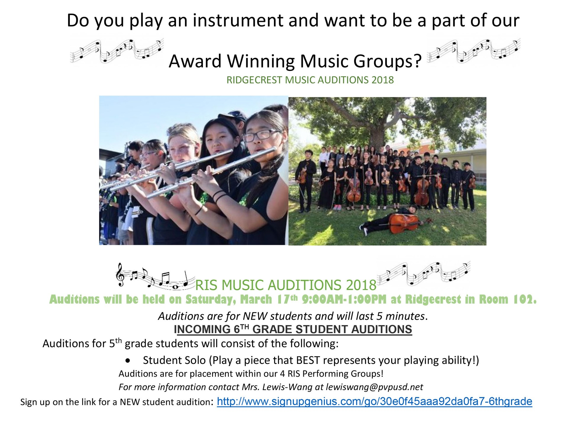 RIS Music Auditions