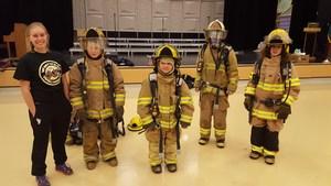 Firefighter visit