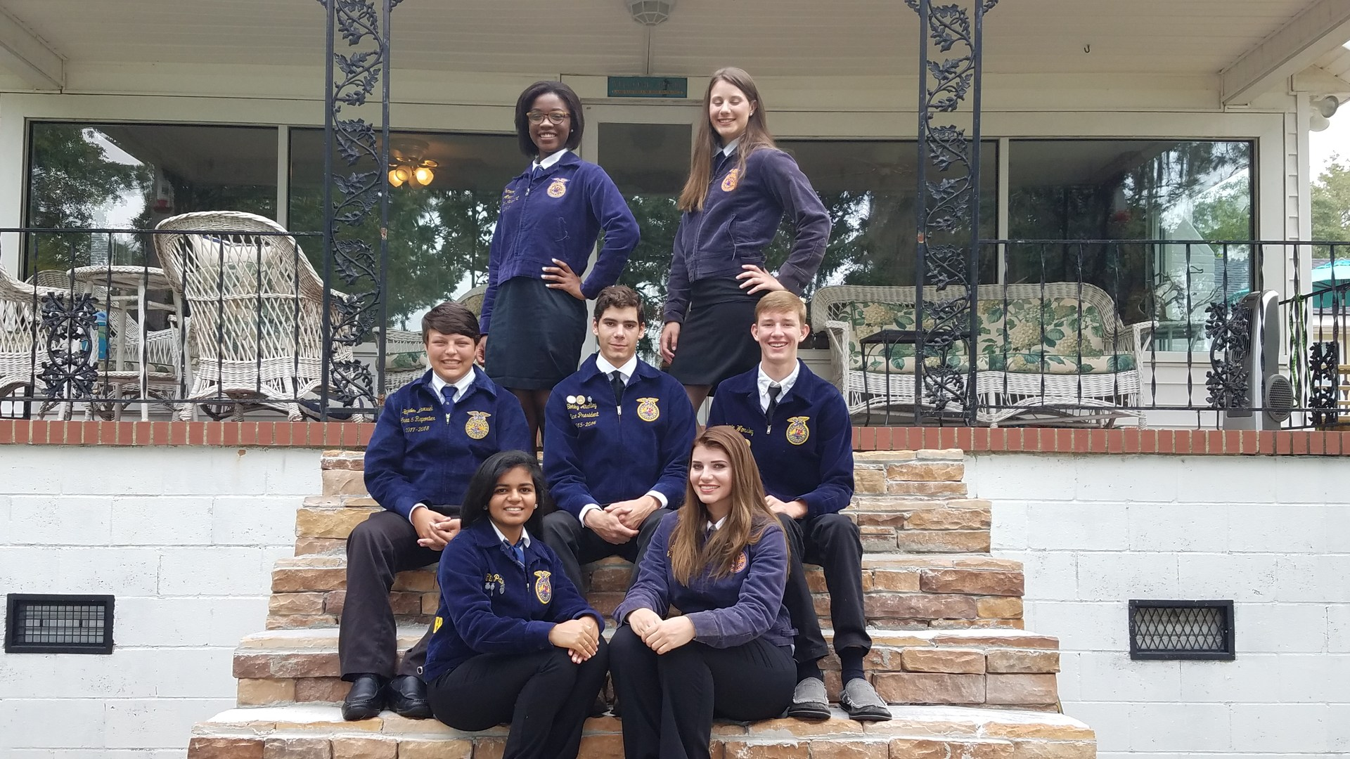 FFA officers at their chapter officer leadership training.