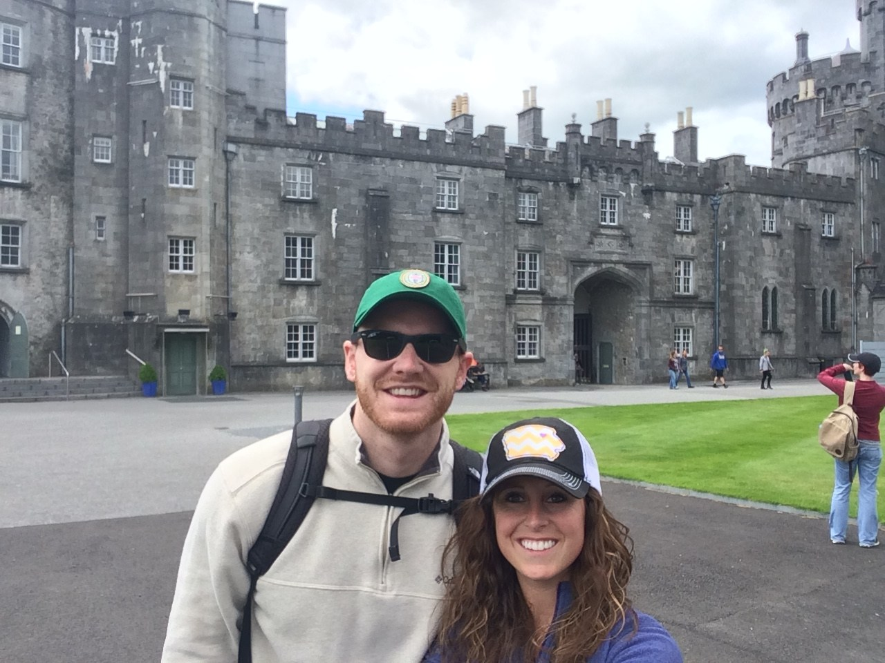 My husband and I at Kilkenny Castle in Ireland 2016.