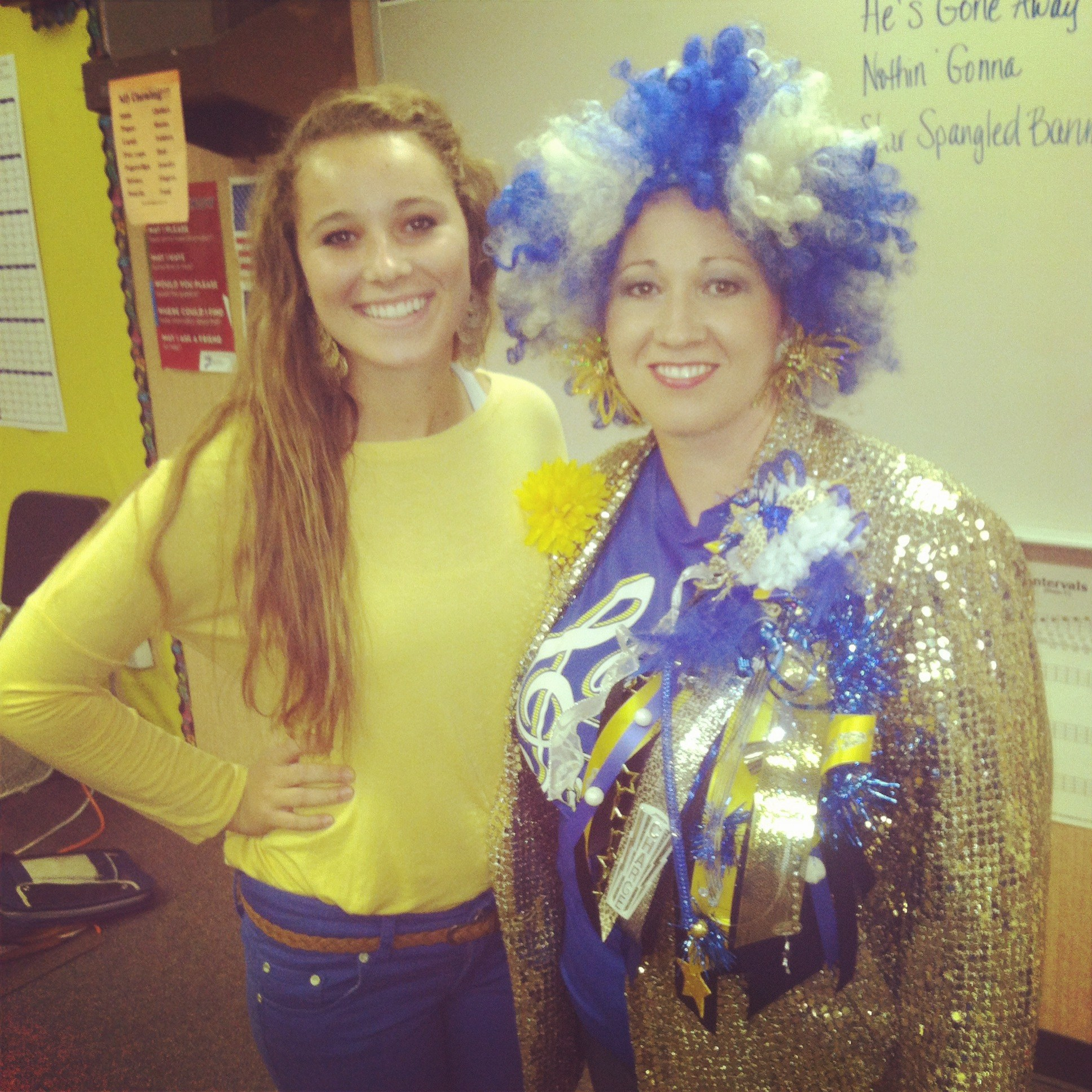 Crazy Blue and Gold Day