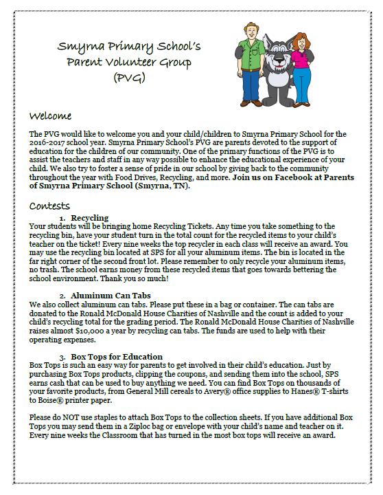 SPS Parent Volunteer