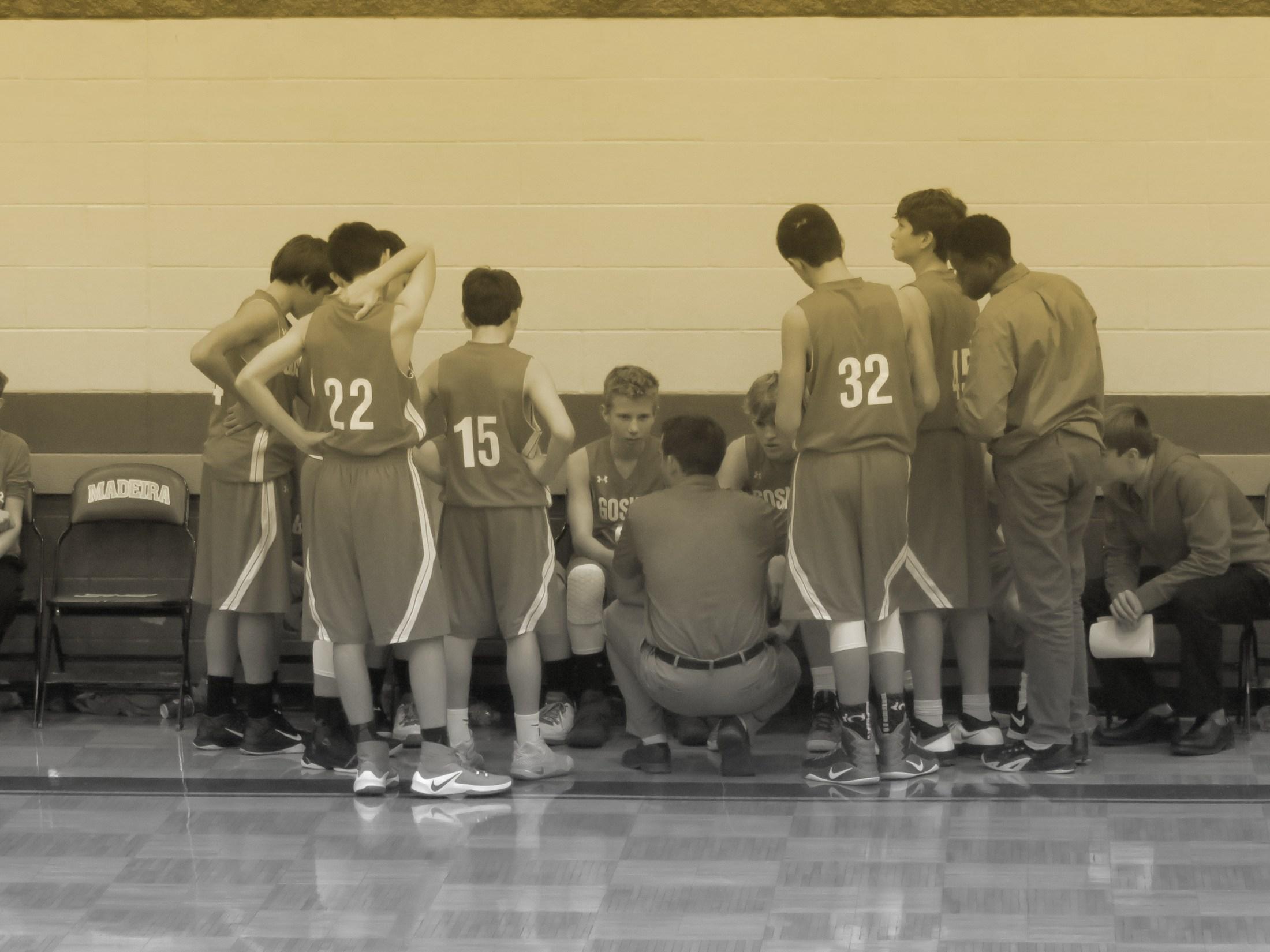 8th grade boys basketball team