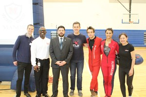 Dr. Avery with MNTMS Principal Chris Smith and iFlight reps.