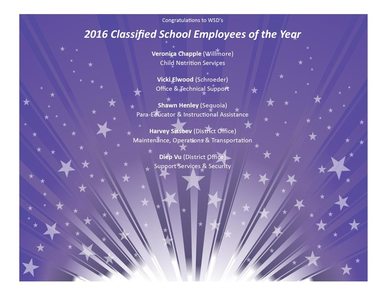 Classified Employee of the Year Flyer