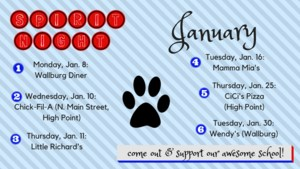 January Spirit Nights