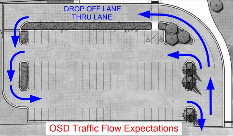 Otis School Parking lot traffic flow Thumbnail Image