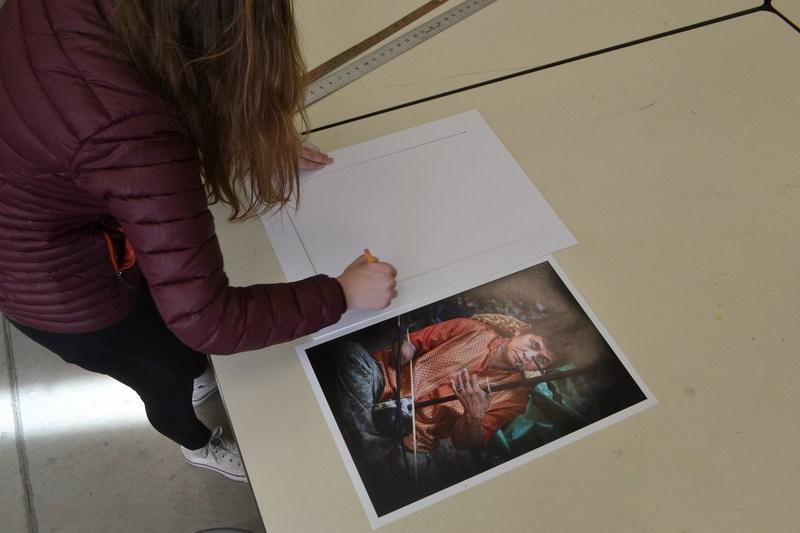 Aubrey Hirst and her award-winning photo.