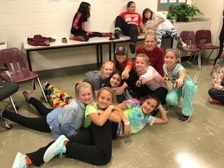 Students on Floor Posing