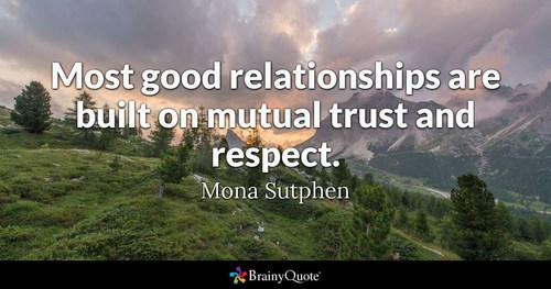 Respect isTrust