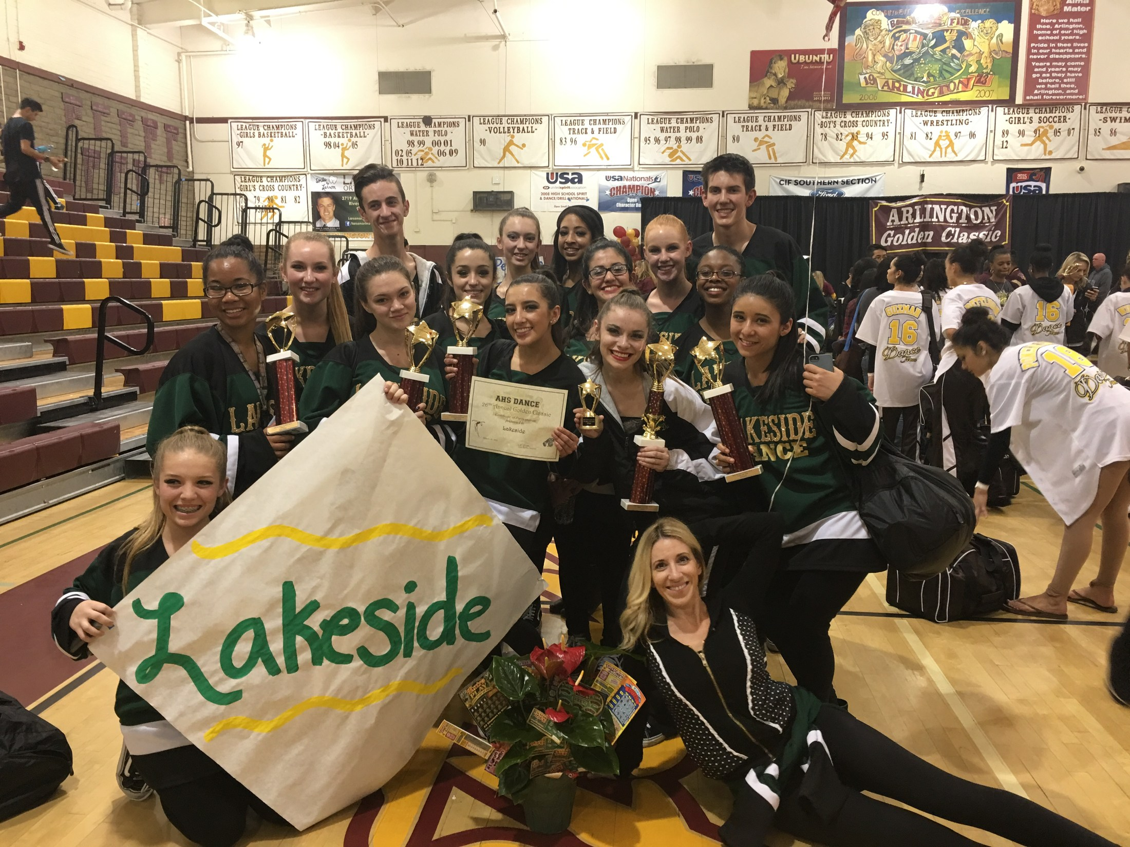 Dance Team with Trophies 2016