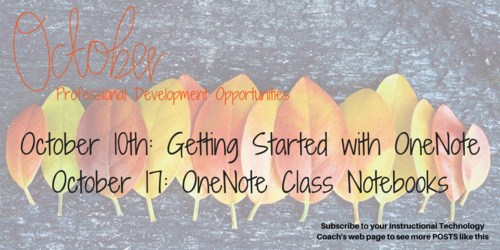 October PD opportunities