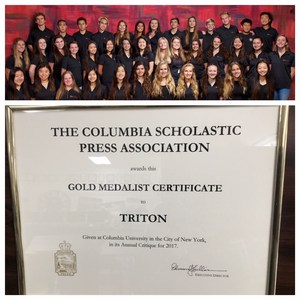 TRITON YEARBOOK RECEIVES TOP HONORS FROM COLUMBIA
