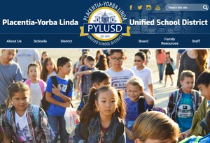A screen shot of the new PYLUSD website launched on November 21, 2017.