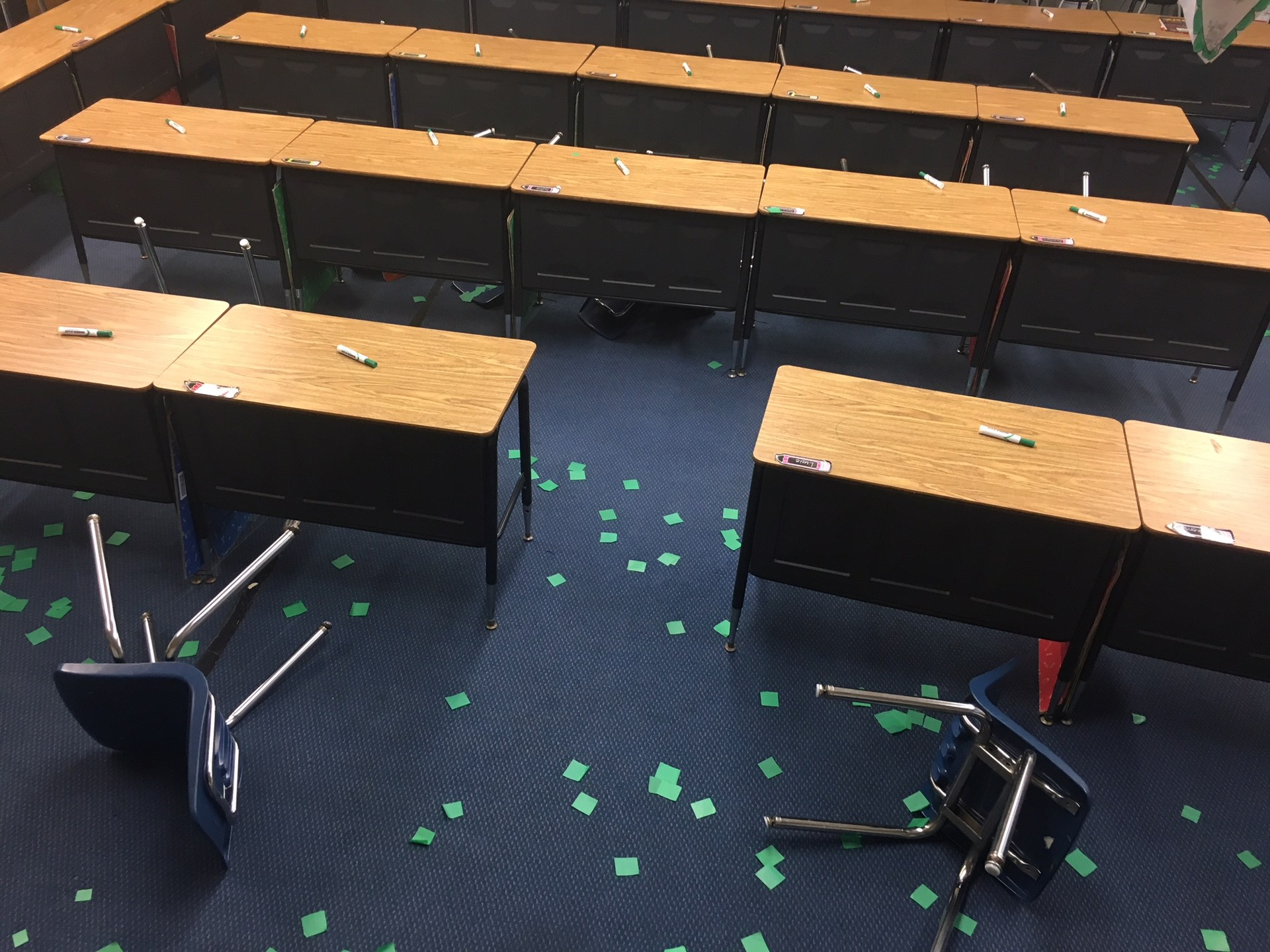 The Leprechauns got to our classroom!