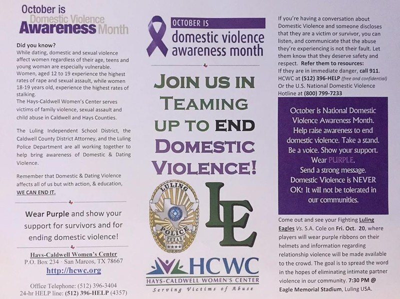 Join Us In Teaming Up To End Domestic Violence Thumbnail Image