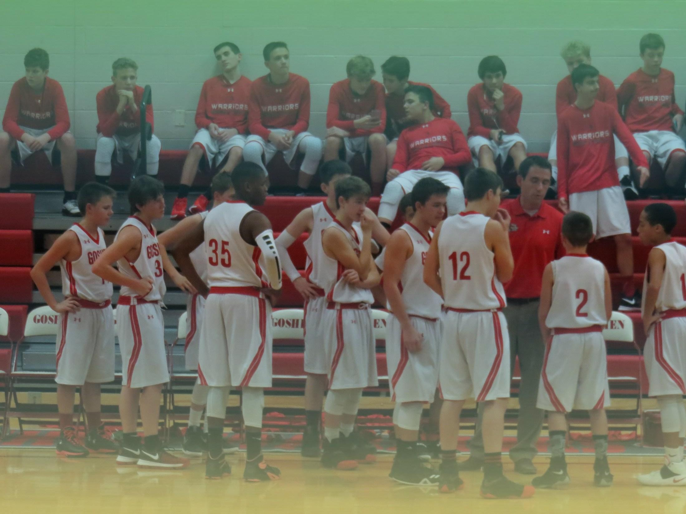 7th grade boys basketball team