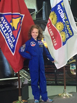 Katie at space camp