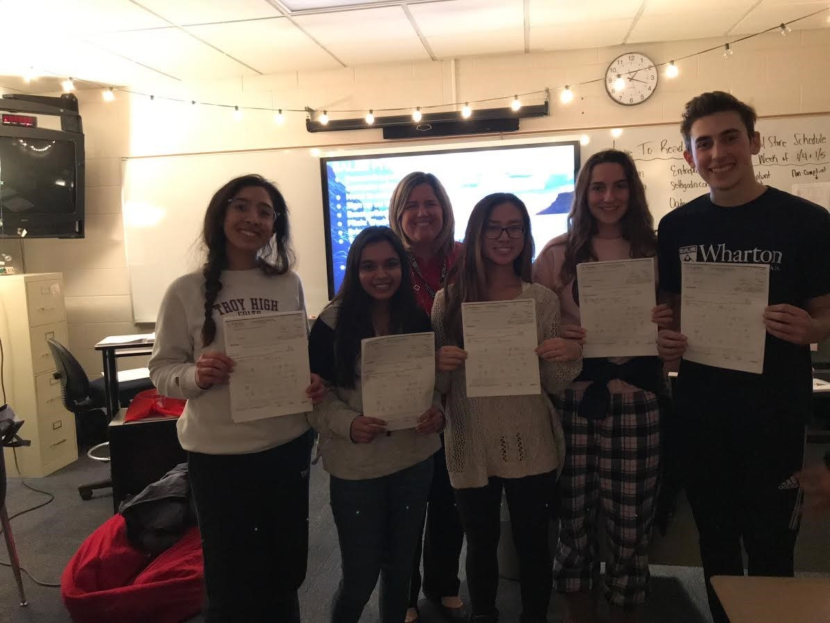 Congratulations to these students for placing in the Suburban Collection PSA contest   •	2nd Place Team, winning $1,000: Quinn Favret, Kaylee Won, Madeline Trumbauer & Isabella Cueny   •	3rd Place Team, winning $500: Zahra Ahmed and Hafsa Qureshi