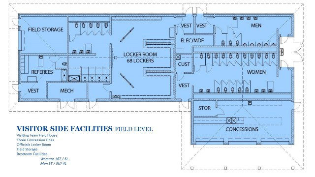 Architectural renderings of proposed tomato bowl renovation jisd floor plan of field house malvernweather Gallery