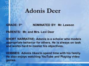 scholar Adonis Deer
