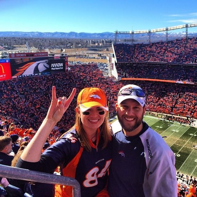 Mr. Wolf and a Denver Broncos game.