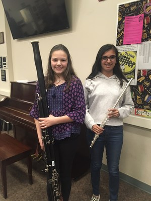 Congratulations to our two Hart District honor band students, Ashley M. and Jonam W.!
