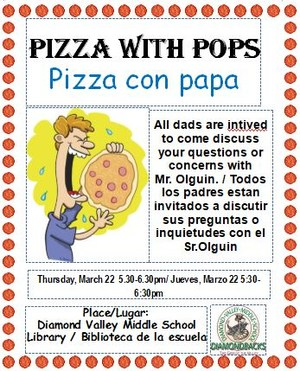 Pizza With Pops Invitation Flyer
