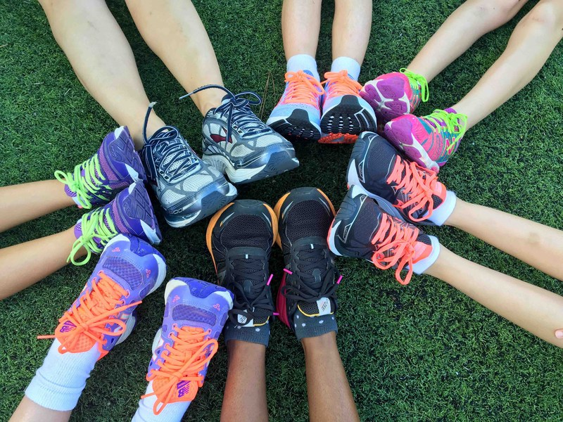 Girls' tennis shoes picture representing Girls on the Run Club