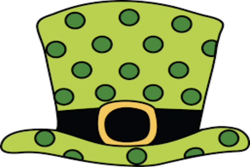 This is a green Polka Dot hat.