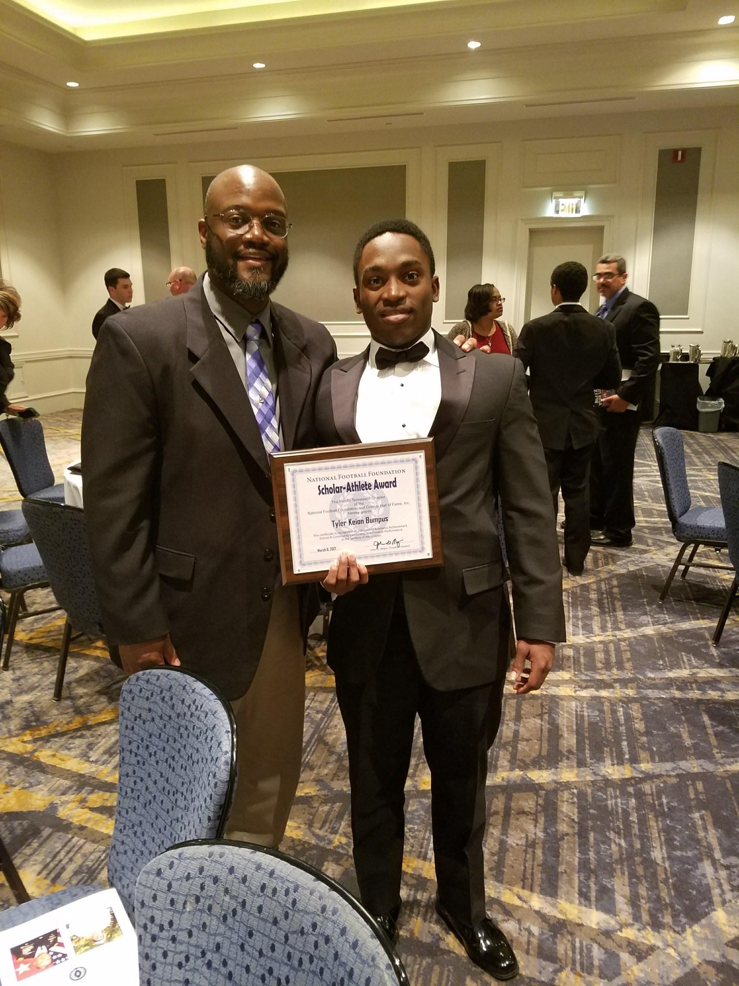 Tyler Bumpus, NFL Foundation Scholar Athlete