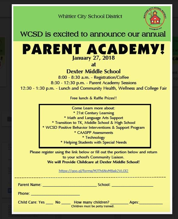 PARENT ACADEMY! Featured Photo