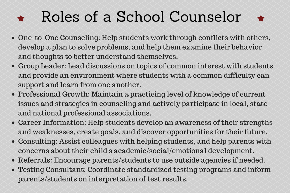 roles of a counselor