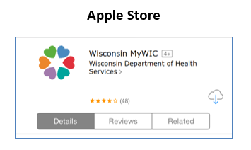 Picture of MyWIC app in Apple store