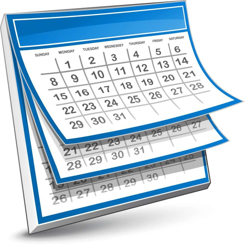 Pages of a calendar