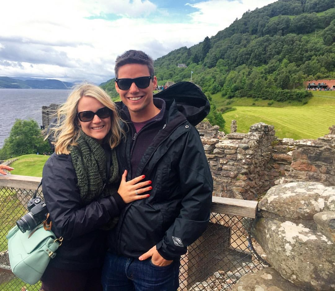 Mrs. Summers and Mr. Summers in Scotland