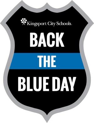 KCS Back the Blue badge