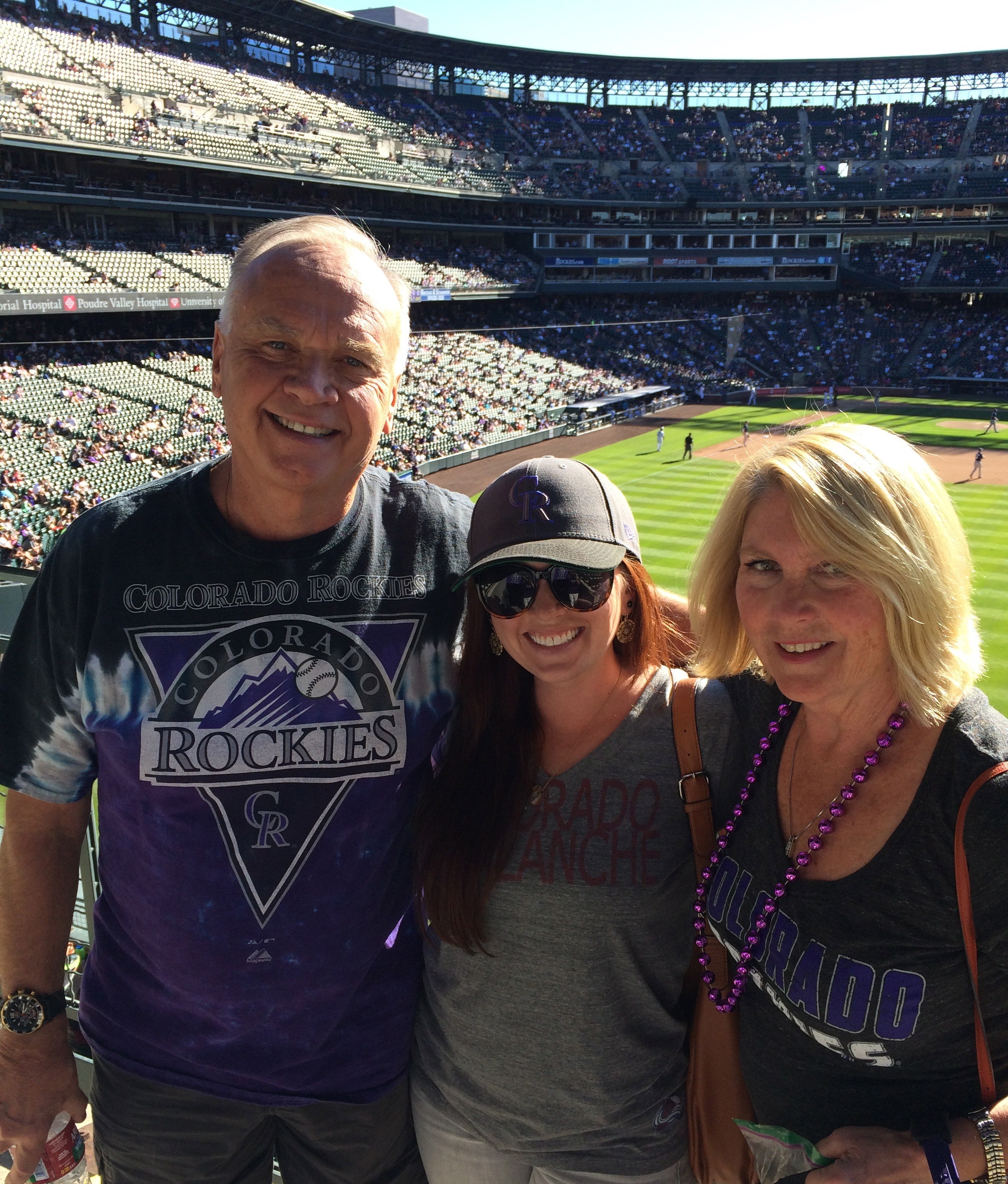 Rockies game with my Family