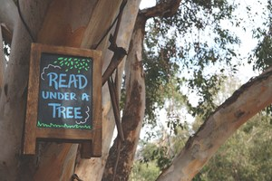 Read under a Tree.