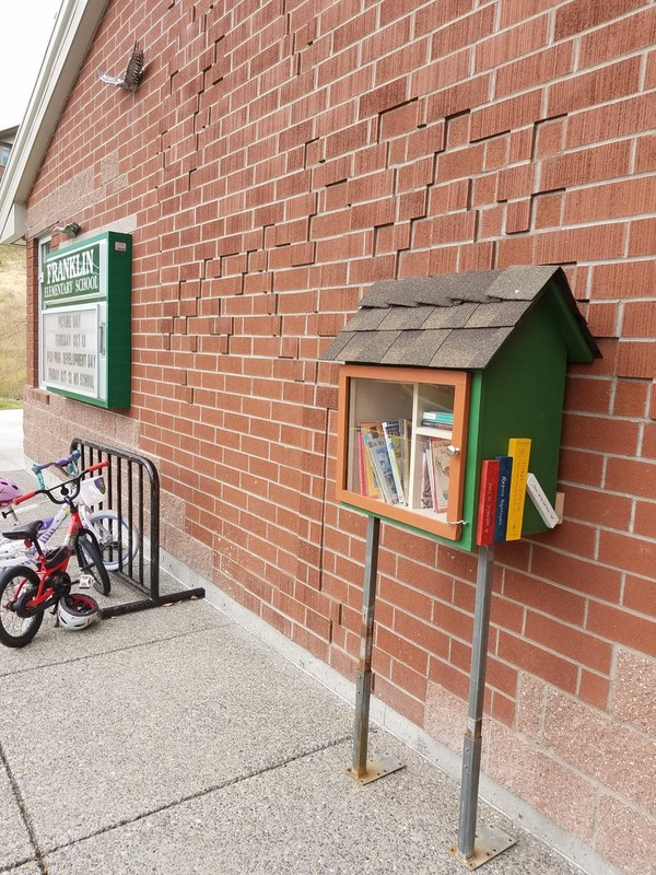 "Franklin Elementary has a new ""Little Free Library""! Thumbnail Image"