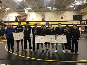 PJ wrestling team group photo from Region 1