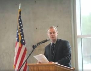 Remarks by Principal Dave Stenersen.