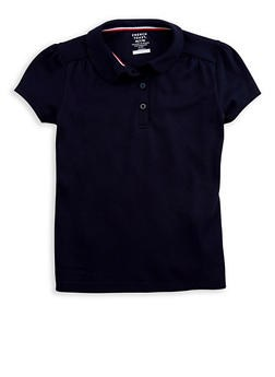 Girls Black Polo