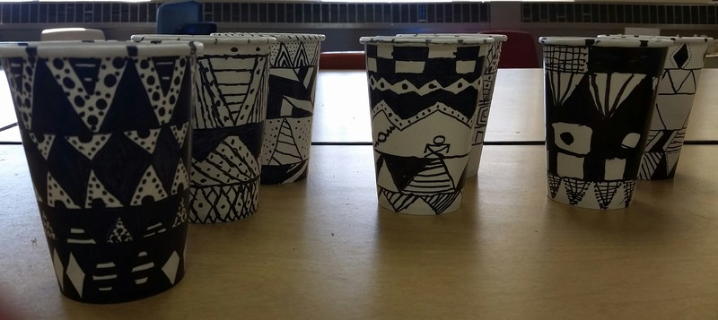 Art project out of cups