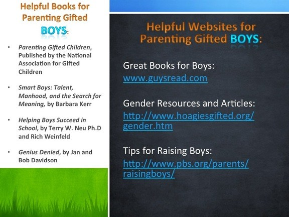 Parenting resources for a gifted child