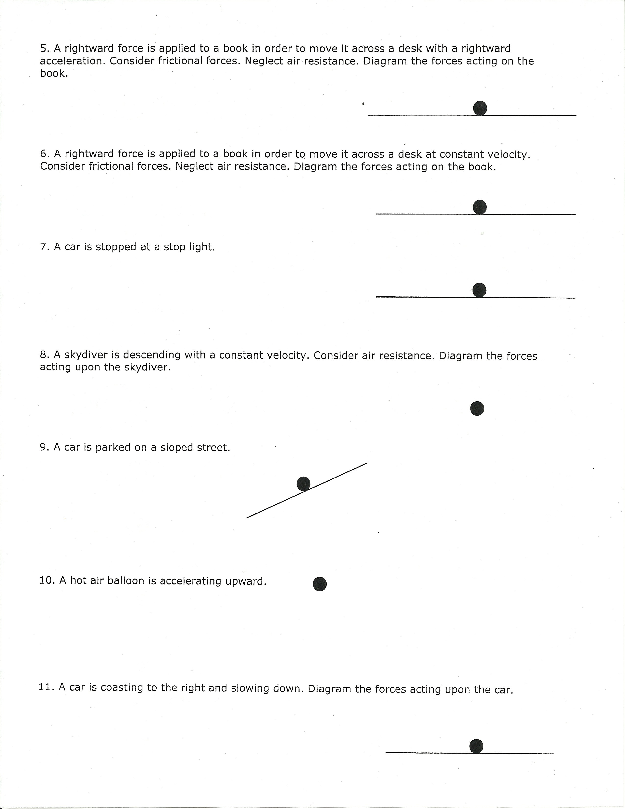 Worksheets Free Body Diagram Worksheet With Answers alvarado intermediate school free body diagram practice 2 jpeg