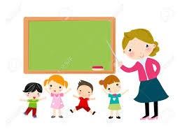 teacher teaching children