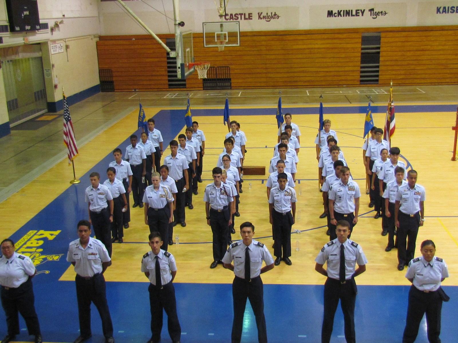 AFJROTC new cadets 17-18
