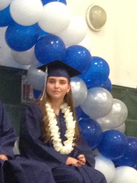 Anna graduating from high school